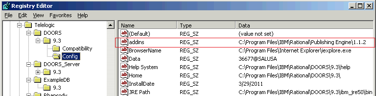 Start DOORS with the \u003caddins\u003e command line switch  sc 1 st  Rational® Publishing Engine Actual & DXL errors when running DOORS reports from RPE \u2013 Rational ...